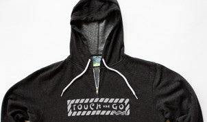 Touch and Go Records Hoodie (Charcoal Heather Gray with Gray Ink)