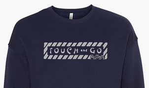 Touch and Go Records Crewneck Sweatshirt (Navy Blue with Gray Ink)