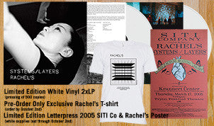 Rachel's Systems/Layers Vinyl Double LP (White or Black) + T-Shirt + Letterpress Poster