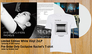Rachel's Systems/Layers Vinyl Double LP (White or Black) + T-Shirt