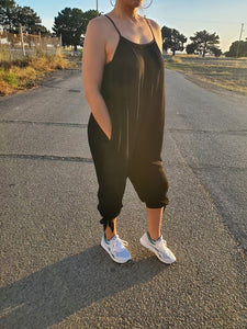 Keeping It Caj Black Jumpsuit