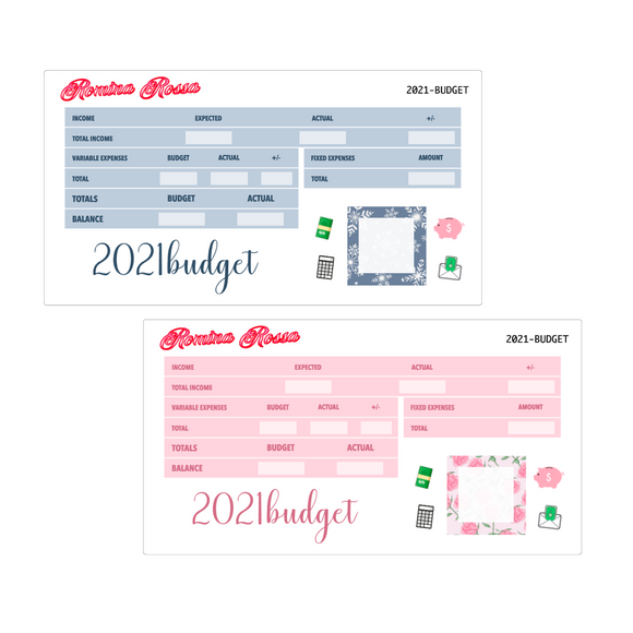 2021 Annual Budget Kit | 7x9, 8.5x11 & Petite Monthly Planner