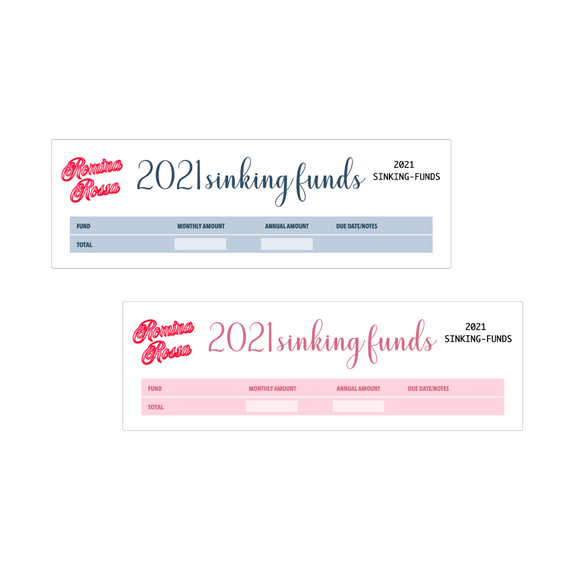 2021 Annual Sinking Funds Kit | 7x9, 8.5x11 & Petite Monthly Planner