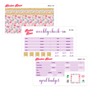 April Deluxe Budget Kit | 7x9, 8.5x11 & Petite Monthly Planner