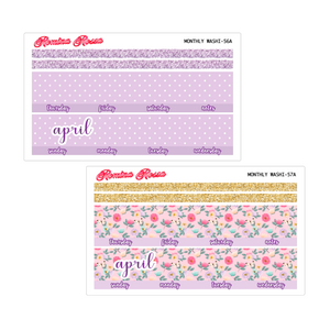 April Monthly Stickers | 7x9 Planner, 8.5x11 Planner & Petite Planner