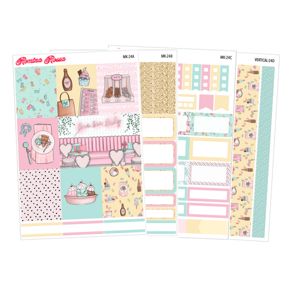 Banana Split - Weekly Sticker Kit Sheets (FOILED & NON FOILED)