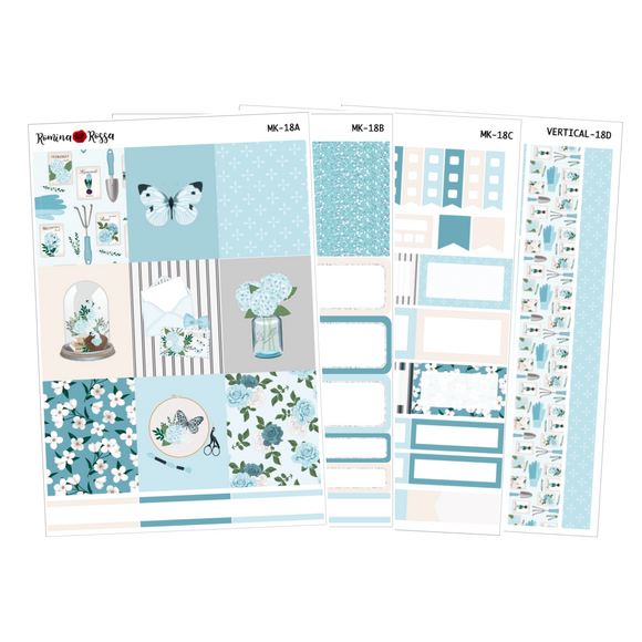 Bloom - Weekly Sticker Kit Sheets (FOILED & NON FOILED)