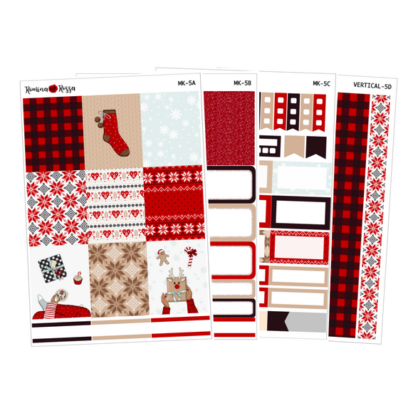 Cozy Christmas - Weekly Sticker Kit Sheets