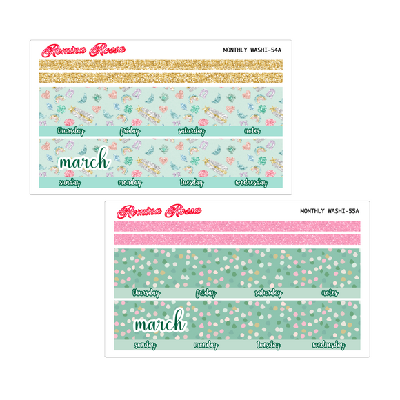 March Monthly Stickers | 7x9 Planner, 8.5x11 Planner & Petite Planner