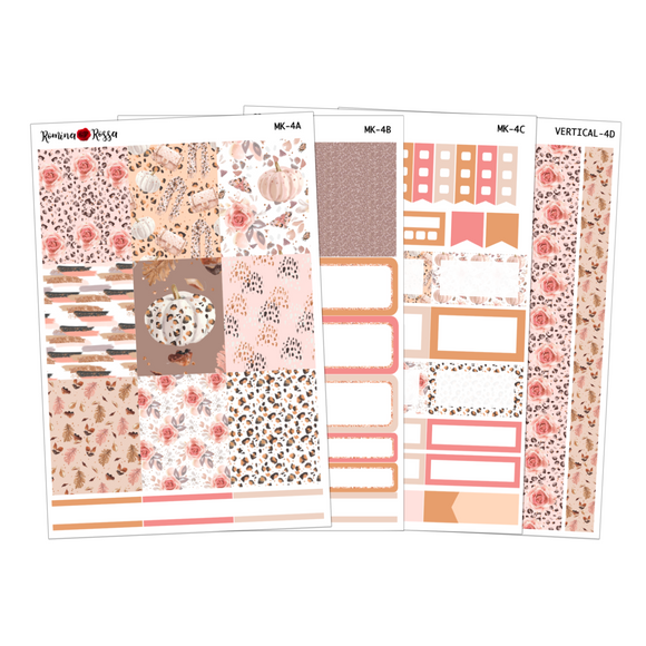Floral Leopard - Weekly Sticker Kit Sheets