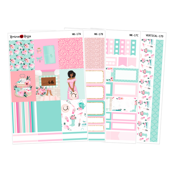 Hello Spring - Weekly Sticker Kit Sheets (FOILED & NON FOILED)