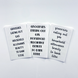Non-Customized Cash Envelope Header Stickers - Clear Sticker Paper