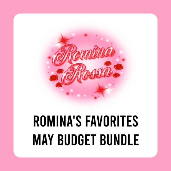 Romina's Favorites May Budget Kit Bundle | 7x9, 8.5x11 & Petite Monthly Planner