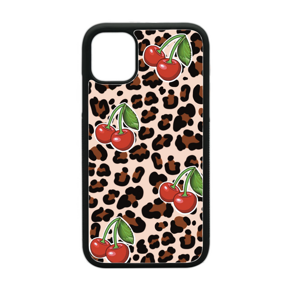 Leopard Cherries Phone Case