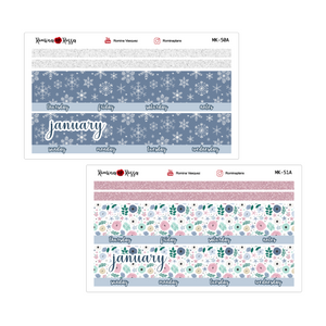 January Monthly Stickers | 7x9 Planner, 8.5x11 Planner & Petite Planner