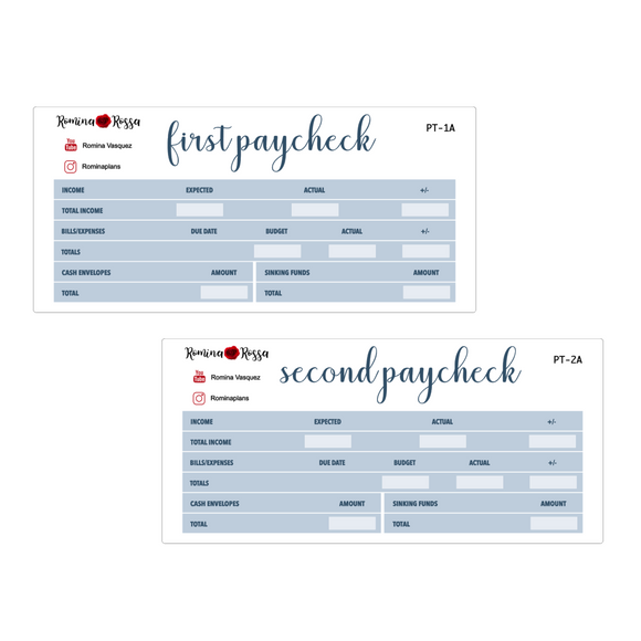 January Paycheck to Paycheck Budget Stickers