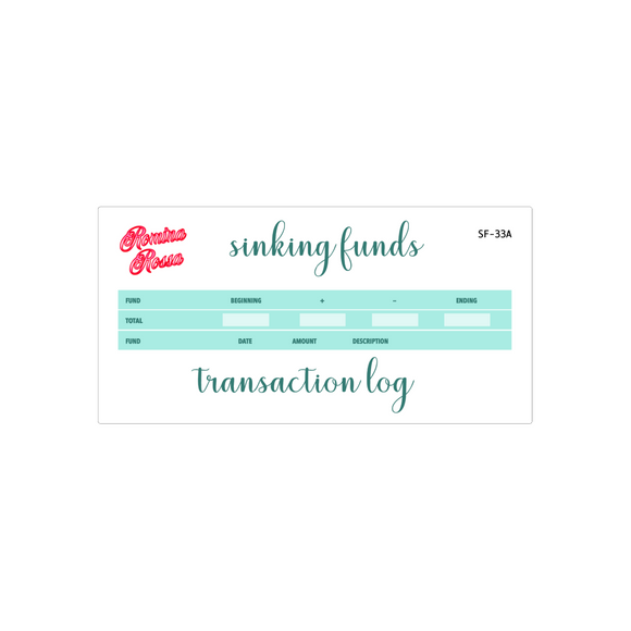 June Sinking Funds Kit | 7x9, 8.5x11, & Petite Monthly Planner