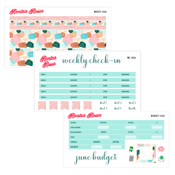 June Deluxe Budget Kit | 7x9, 8.5x11 & Petite Monthly Planner