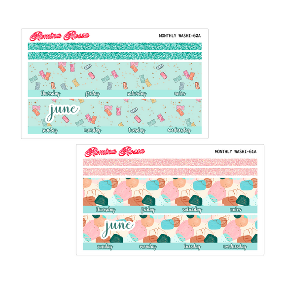 June Monthly Stickers | 7x9 Planner, 8.5x11 Planner & Petite Planner