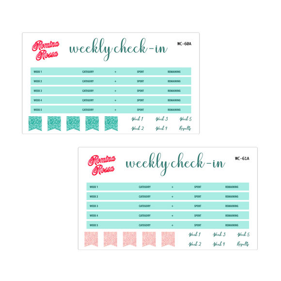 June Weekly Check In Kit | 7x9, 8.5x11 & Petite Monthly Planner