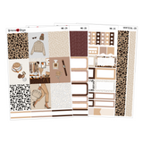 Leopard Everything - Weekly Sticker Kit Sheets