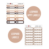 Neutral Collection Monthly Labels | EC & Plum Paper 7x9 Planner