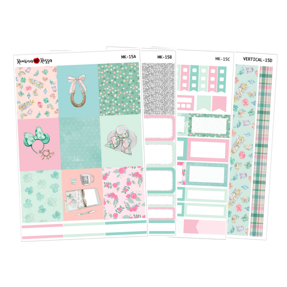 Lucky - Weekly Sticker Kit Sheets (FOILED & NON FOILED)