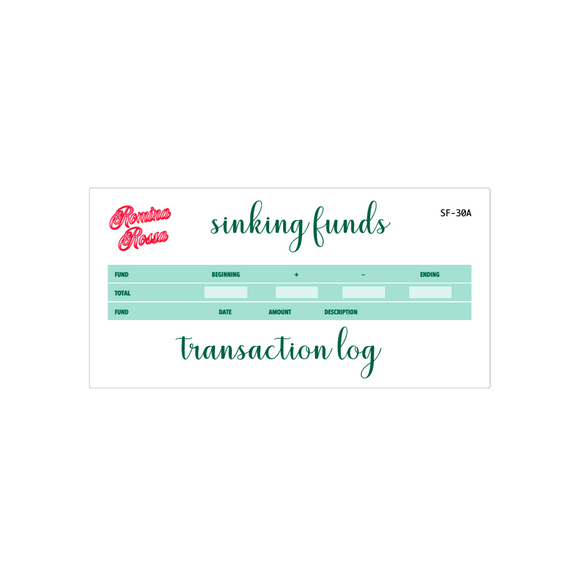 March Sinking Funds Kit | 7x9, 8.5x11, & Petite Monthly Planner