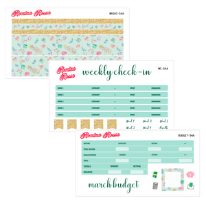 March Deluxe Budget Kit | 7x9, 8.5x11 & Petite Monthly Planner