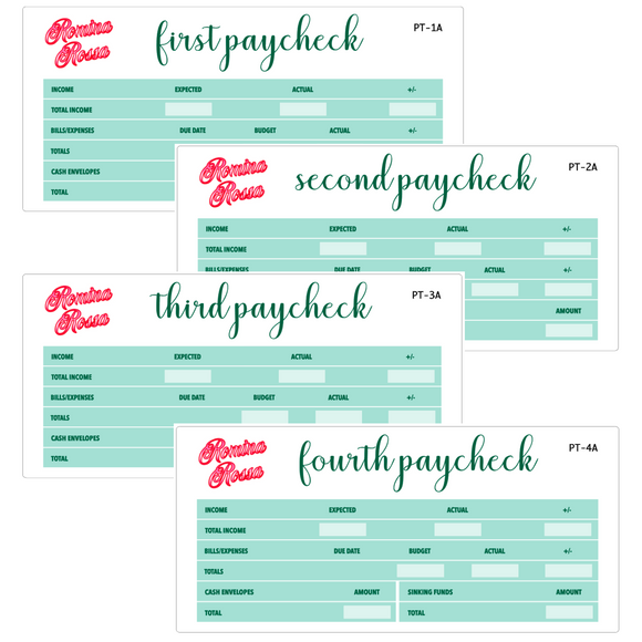 March Paycheck to Paycheck Budget Stickers