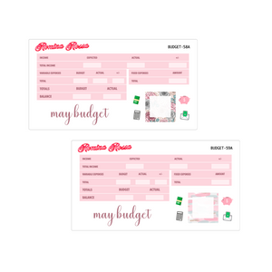 May Budget Kit | 7x9, 8.5x11 & Petite Monthly Planner