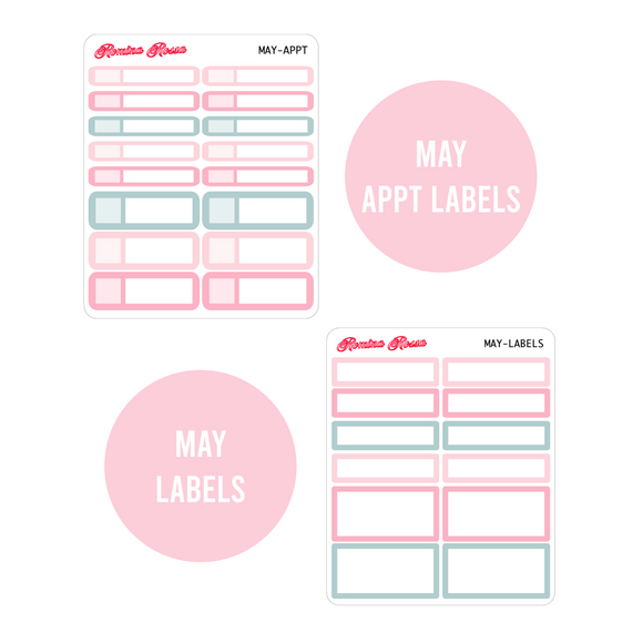 May Monthly Labels | EC & Plum Paper 7x9 Planner