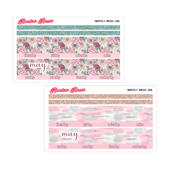 May Monthly Stickers | 7x9 Planner, 8.5x11 Planner & Petite Planner