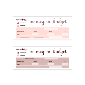 Moving Out Budget Sticker Kit | 7x9 Planner