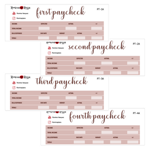 October Paycheck to Paycheck Budget Stickers
