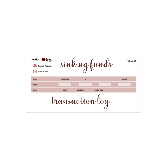 October Sinking Funds Kit | 7x9, 8.5x11, & Petite Monthly Planner