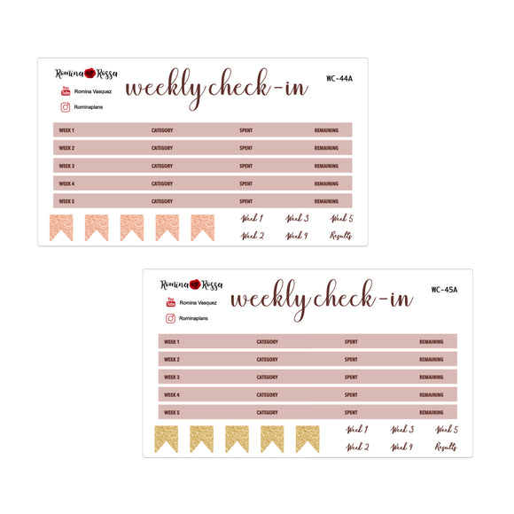 October Weekly Check In Kit | 7x9, 8.5x11 & Petite Monthly Planner