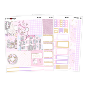 Pink Holiday - Weekly Sticker Kit Sheets