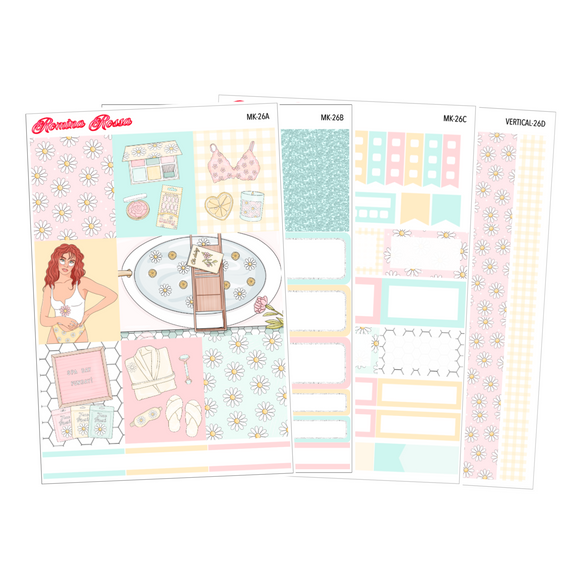 Self Love - Weekly Sticker Kit Sheets (FOILED & NON FOILED)