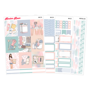 Spring Cleaning - Weekly Sticker Kit Sheets (FOILED & NON FOILED)