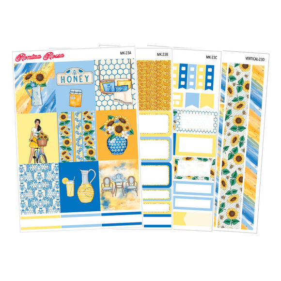 Sunshine & Happiness - Weekly Sticker Kit Sheets (FOILED & NON FOILED)