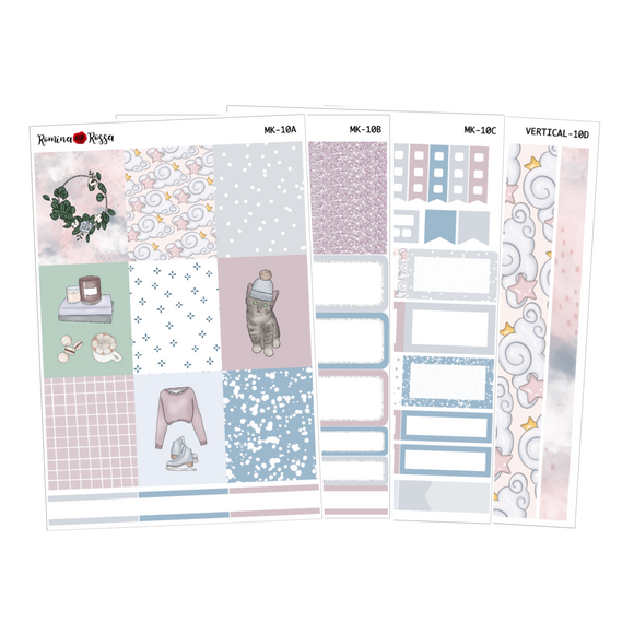 Winter Nights - Weekly Sticker Kit Sheets (FOILED & NON FOILED)