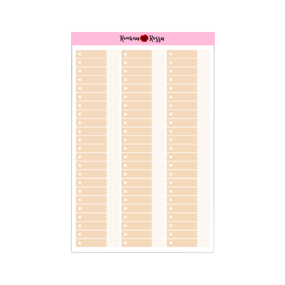 Neutral Budget Expense Stickers - Full Sheet | Custom Color
