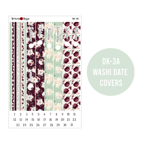 Burgundy Fall - Daily Planner Stickers