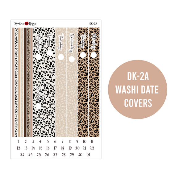 Leopard Everything - Daily Planner Stickers