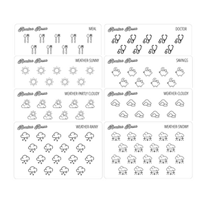 Foiled Icon Stickers (Volume 4) - Decorative Planner Stickers