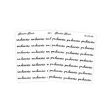 AM/PM Skincare | Foiled Scripts Stickers