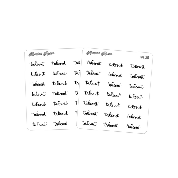 Takeout | Foiled Scripts Stickers