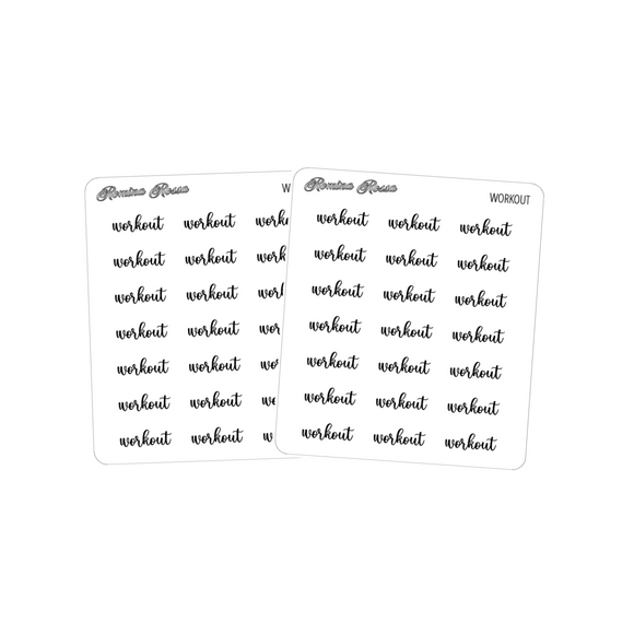 Workout | Foiled Scripts Stickers