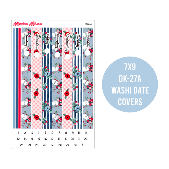 Red, White and Blue - A5 and 7x9 Daily Planner Stickers